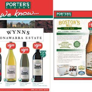 Porters Wine brochure